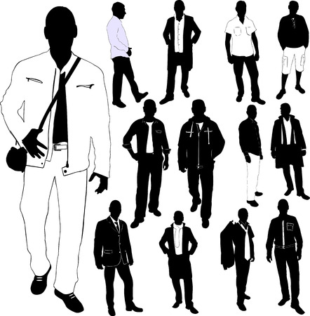fashion men collection - vector Stock Illustratie