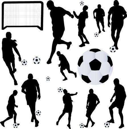 Voetballer collectie 1 - vector Stockfoto - 22869244
