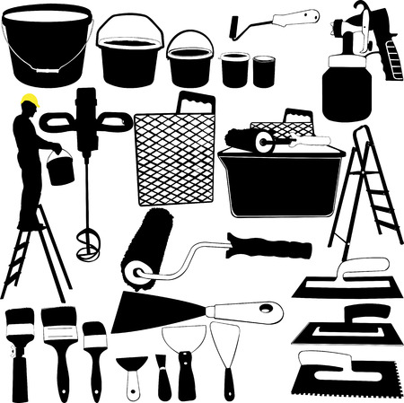 painting tools collection - vector
