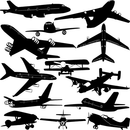 vlieg tuig-collectie Stock Illustratie