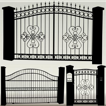 żelazne bramy - wektor Ilustracje wektorowe