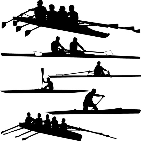 rowing: rowing collection - vector Illustration