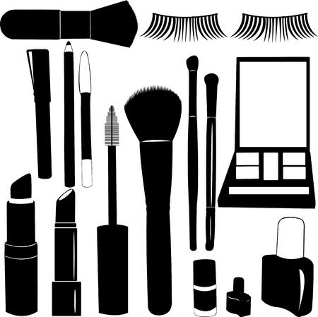 Make Up Silhouettes - vector Stock Illustratie