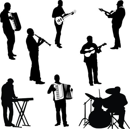 Muzikanten collectie  Stockfoto - 32378659