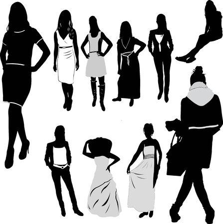 Vrouw vrouwelijke Girl Fashion - vector Stockfoto - 33033647