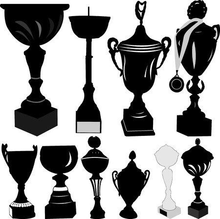 Trophy Cup Silhouette - vector