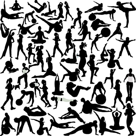 mujeres fitness: mujeres recreaci�n (pilates-yoga-aer�bico-correr)