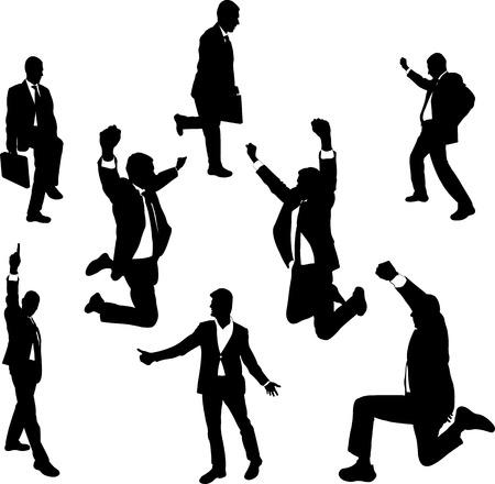 Successful happy business men - vector