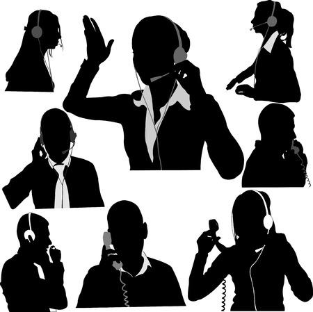 secretary and call center operator vector 1