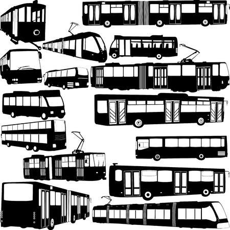 Stedelijk vervoer grote collectie - vector Stockfoto - 35002148