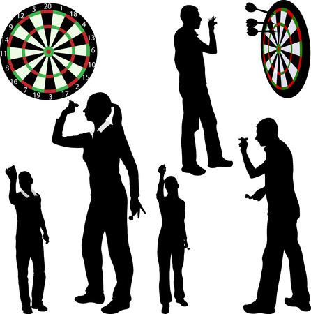 Darts players - vector