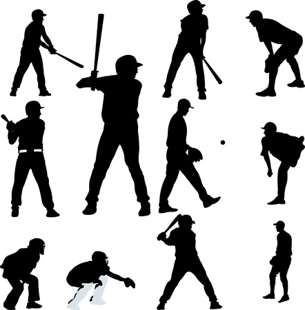 baseball catcher: baseball collection - vector