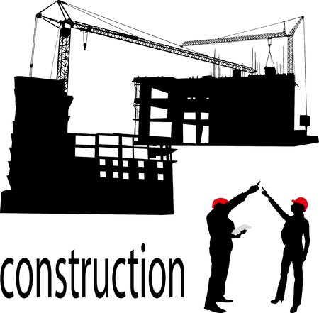 engineering design: Construction  and engineer vector