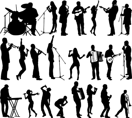 singers and musicians collection - vector Ilustrace
