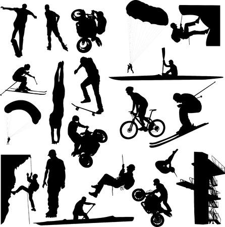 deporte extremo - vector Ilustración de vector