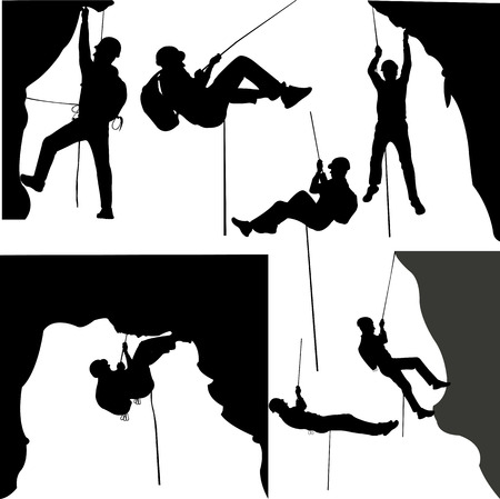 Klimmers silhouet collectie - vector Stockfoto - 50912192