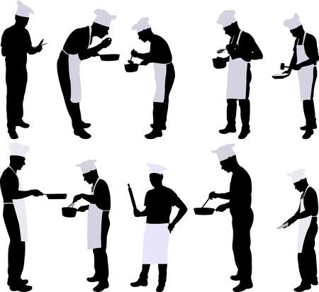 Chef Silhouette Collection - Vektor Illustration
