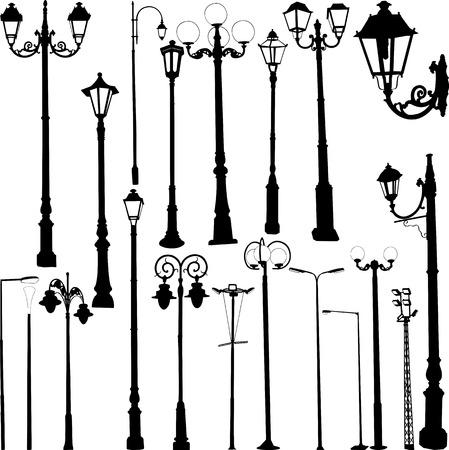 Straat lampen collectie - vector Vector Illustratie