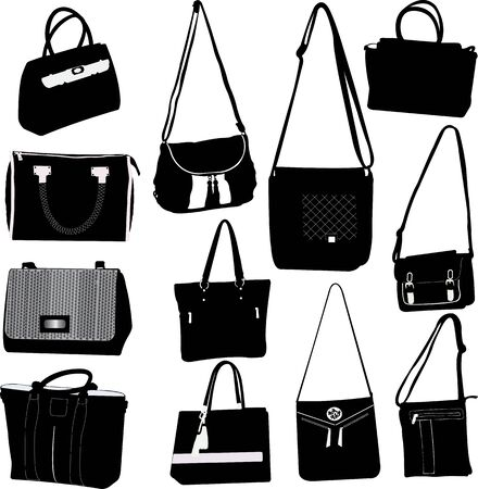 Collection bags Illustration vector set Ilustrace