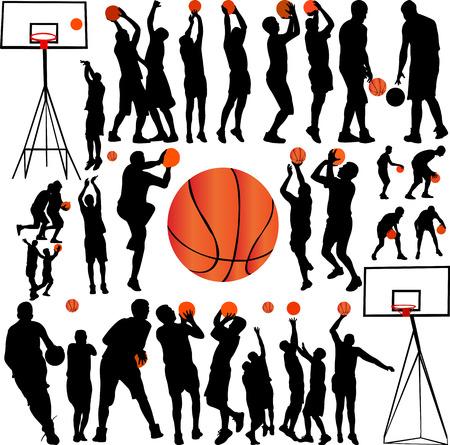 Basketbal spelers collectie vector Stockfoto - 68882488
