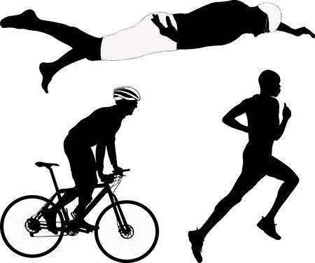 Triathlon Silhouette - Vektor