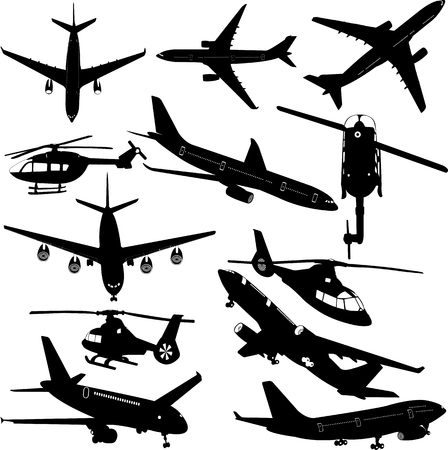airplanes and helicopter collection