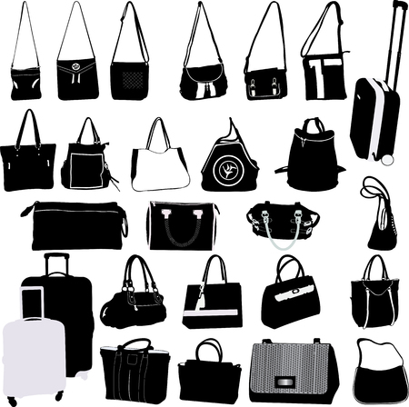 bags and suitcases collection - vector