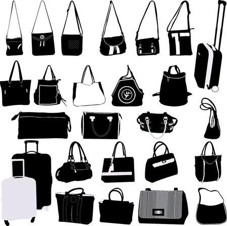 Zakken en koffers collectie - vector Stockfoto - 69141309