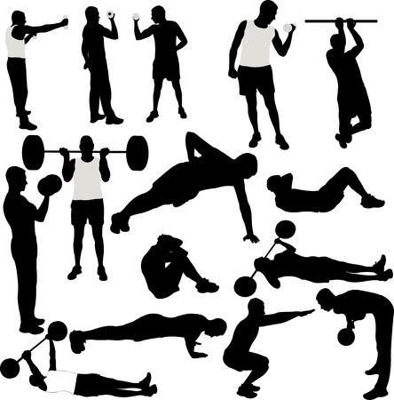 Männer Freizeitsport-Sammlung - Vektor Illustration