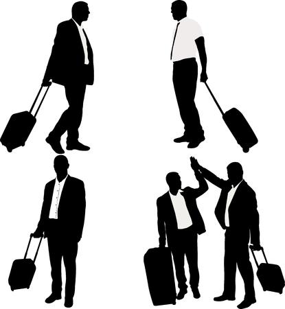 Geschäftsleute mit Reisetaschen - Vektor