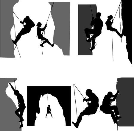 Kletterer Silhouette - Vektor Illustration
