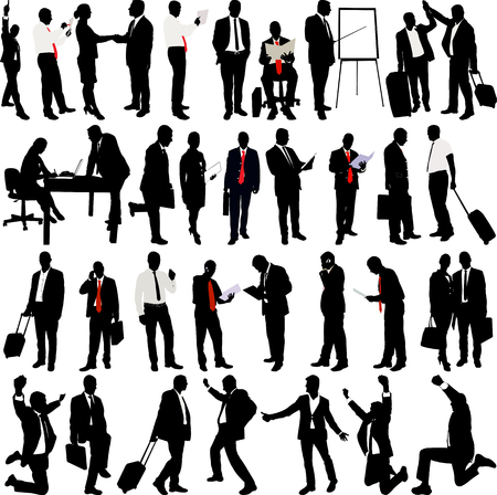 Business People Silhouette Collection - vector