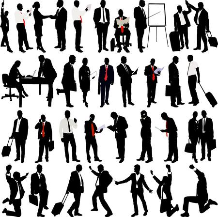 Geschäftsleute Silhouette Collection - Vektor Illustration