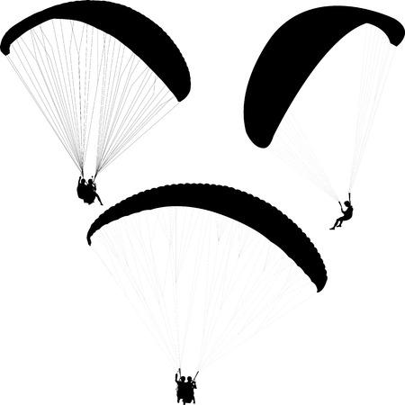 paragliding silhouettes collection - Reklamní fotografie - 84507957