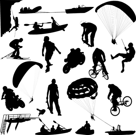 Extreme sportinzameling - vector Stockfoto - 89853704