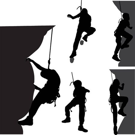 Children rock climber - vector