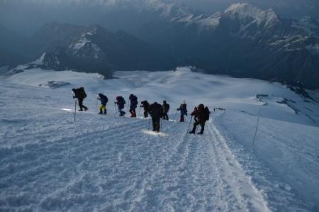 During travel on Mount Elbrus  Banco de Imagens
