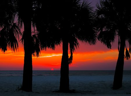 Sunset at Clearwater Beach, Florida Imagens