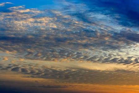 altocumulus: An evening sky with altocumulus clouds