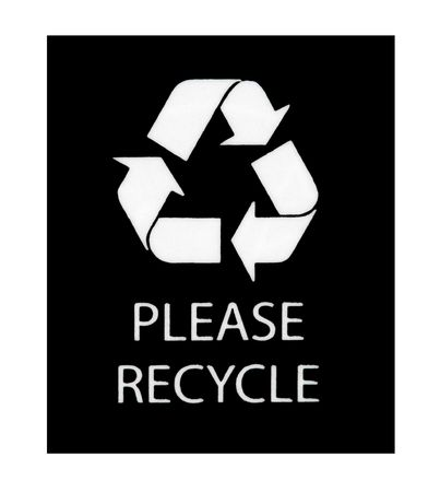 Please Recycle sign isolated on a white background