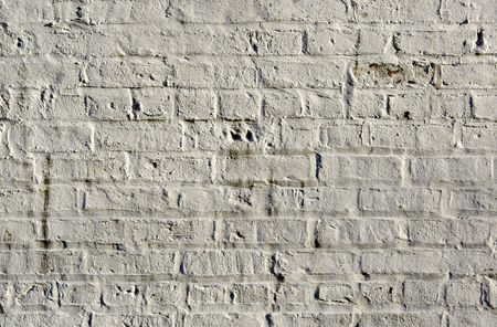 White brick wall showing detail, patterns, and texture Imagens