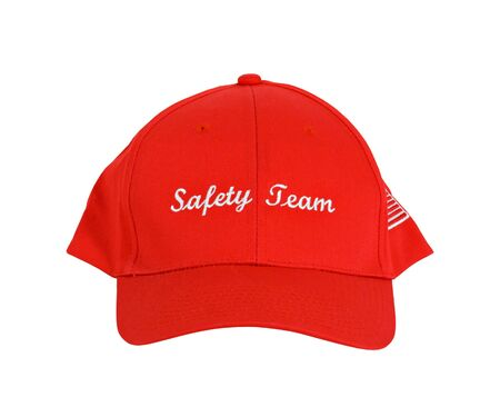 A red hat or cap with the words