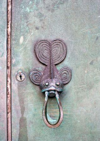 An old fish door knocker. Stock Photo - 1319314