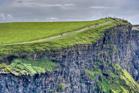 The top of the Cliffs of Moher in Ireland photo