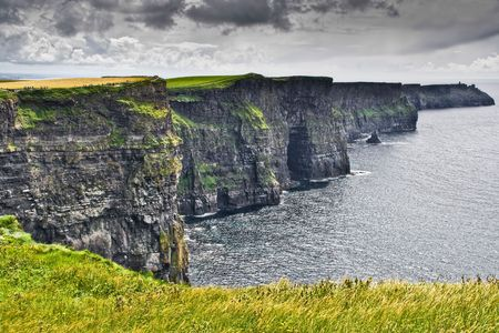 travel features: The Cliffs of Moher in western Ireland Stock Photo