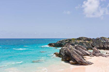 boulder rock: Horseshoe Bay Beach in Bermuda