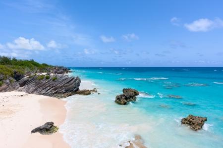 Horseshoe Bay in Bermuda on a Sunny Day