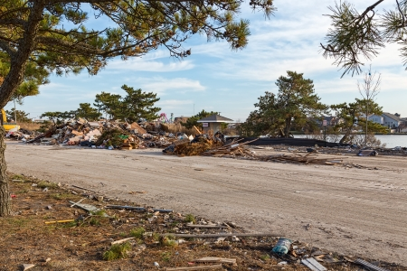 pleasant: Hurrican Sandy aftermath in Point Pleasant, New Jersey Stock Photo