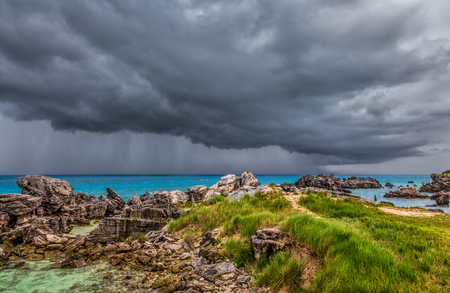 Severe Thunderstorm at Tobacco Bay Beach in St. Georges Bermuda