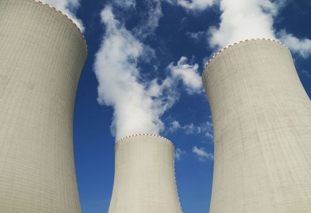 atomic power station with cooling tower  photo
